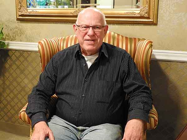 Bob Porter at Hilltop House Retirement Community